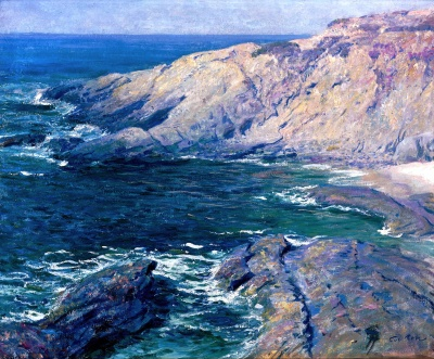 "alt=""guy rose incoming tide, laguna beach"""